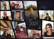 Portraits von allen Mitarbeitern die das Glas auf das neue Jahr erheben
